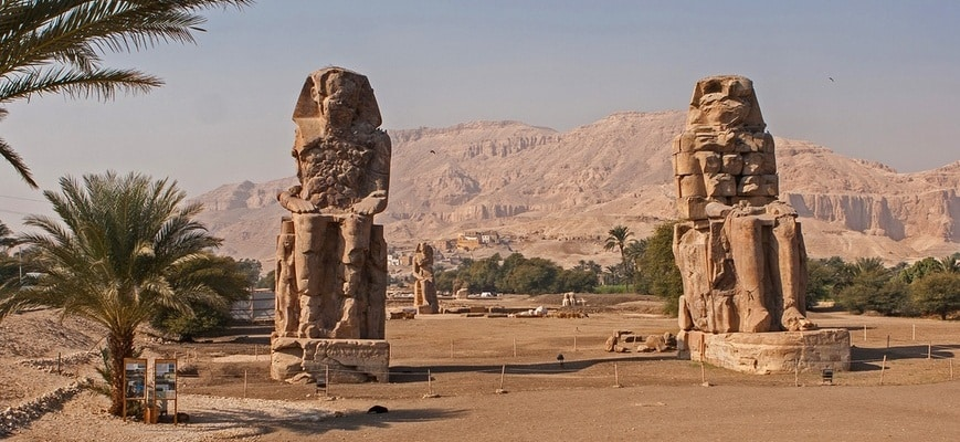 Colossi of Memnon - Cairo, Luxor & Hurghada Holiday - TripsInEgypt