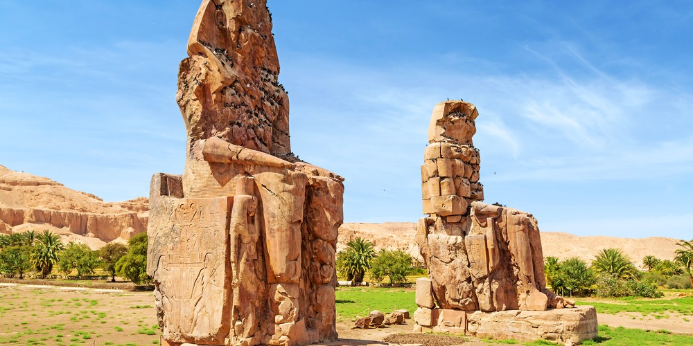 Colossi of Memnon - 4 Day Nile Cruise Aswan to Luxor Itinerary - Trips in Egypt