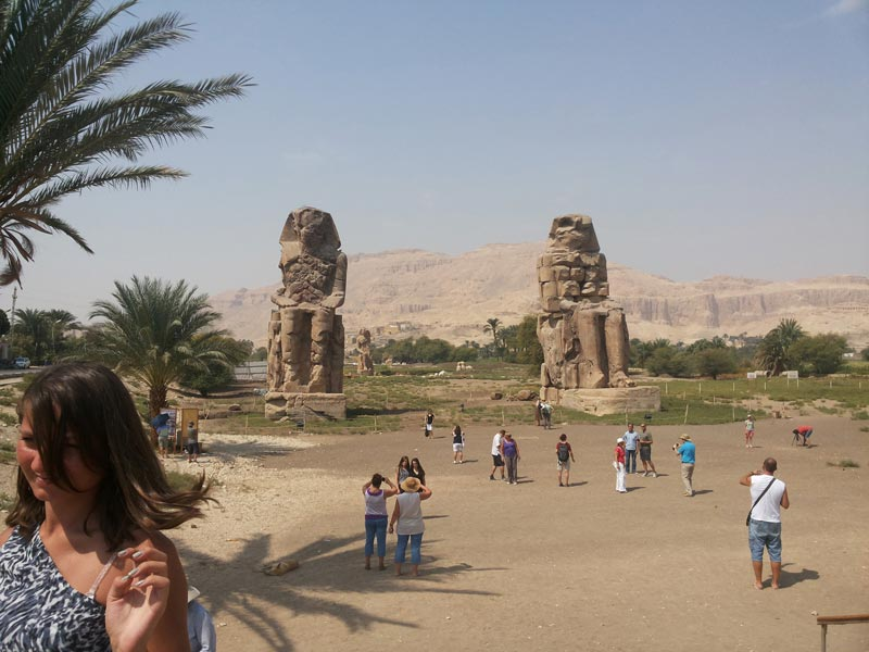 Colossi of Memnon - Day Trip from Aswan to Luxor - Trips In Egypt;