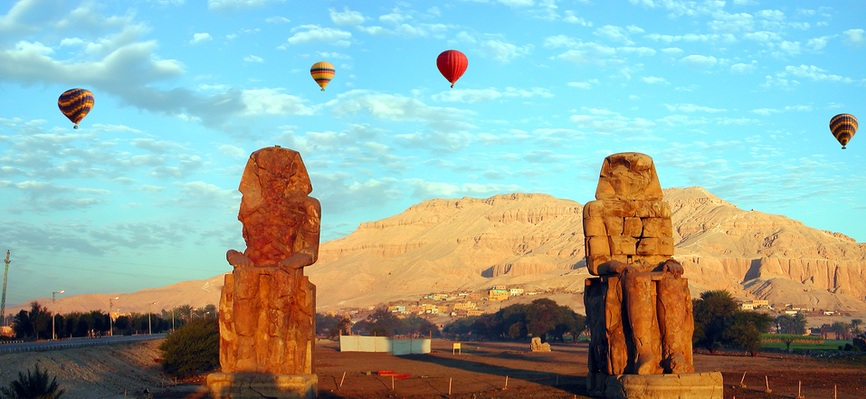 Colossi of Memnon - Day trip to luxor from cairo - TripsInEgypt