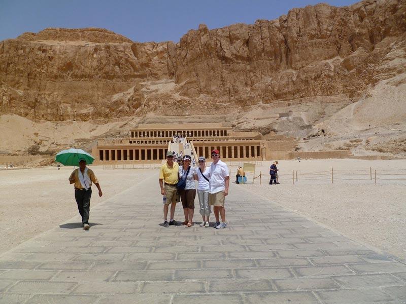 Queen Hatshepsut Temple - Aswan to Luxor Tour - Trips In Egypt