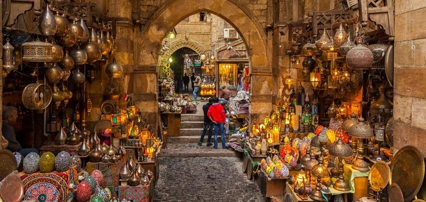 Khan El-Khalili Bazar | 12 Days Cairo, Nile Cruise, Hurghada tour | TripsInEgypt