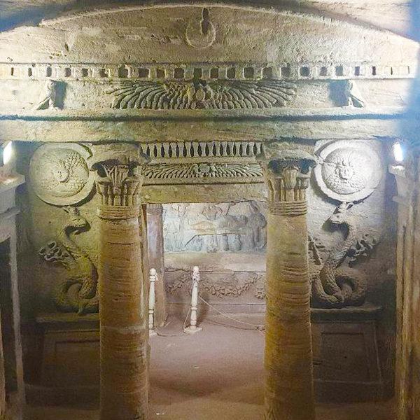 Catacombs of Kom El Shoqafa Alexandria - Trips in Egypt