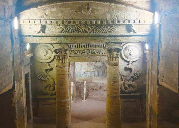 Catacombs of Kom El Shoqafa Alexandria - Trips in Egypt