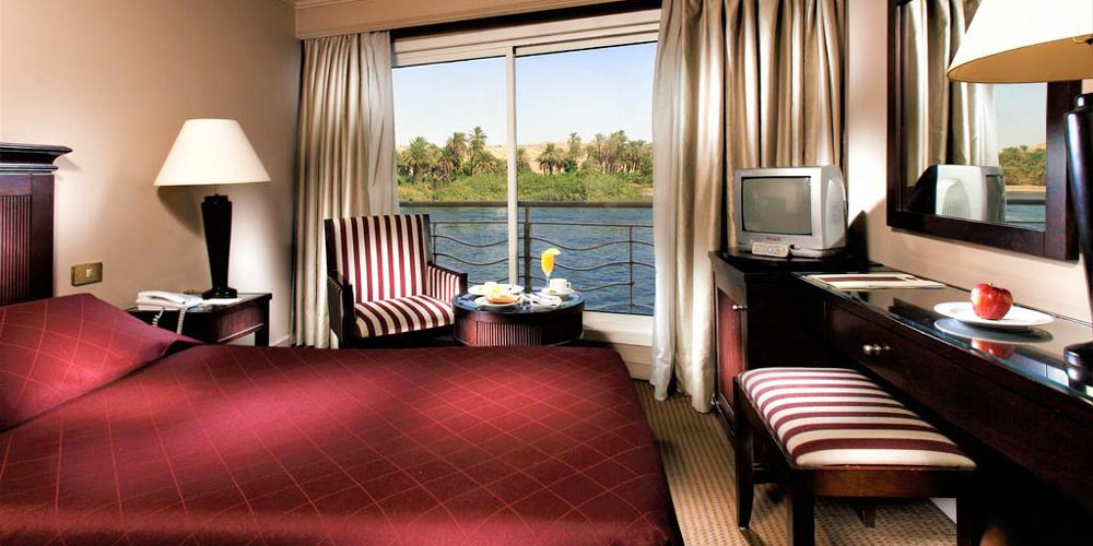 Bedroom of Crown Jubilee Nile Cruise - Trips in Egypt