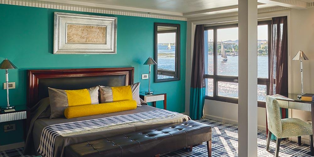 Bedroom of Mövenpick MS Sun Ray Nile Cruise - Trips in Egypt