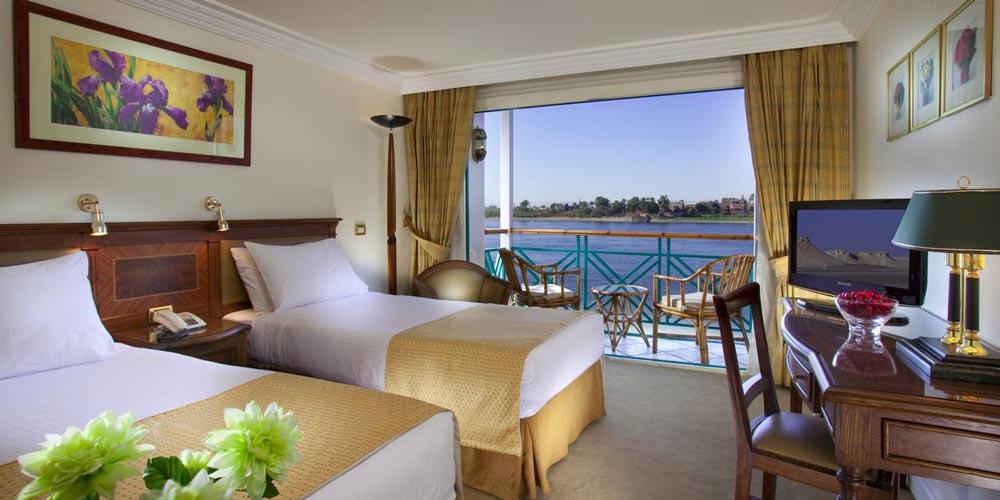 Bedroom of Sonesta Moon Goddess Nile Cruise - Trips in Egypt
