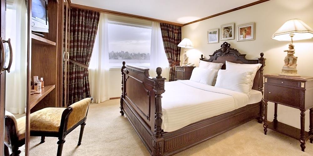 Bedroom of Sonesta Star Goddess Nile Cruise - Trips in Egypt