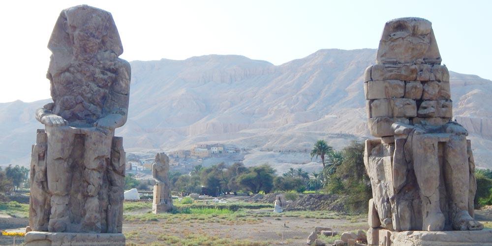 Colossi of Memnon - Sonesta Nile Goddess Nile Cruise - Trips in Egypt