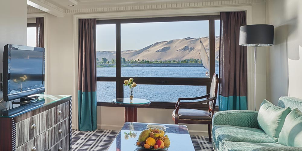 Guest Suite of Mövenpick MS Sun Ray Nile Cruise - Trips in Egypt