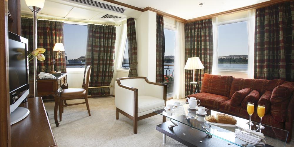 Inside Cabin of Sonesta Star Goddess Nile Cruise - Trips in Egypt