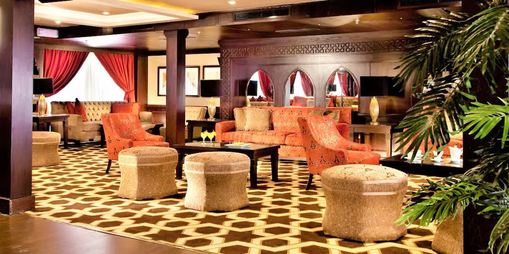 Lobby Seating Area of Steigenberger Legacy Nile Cruise - Trips in Egypt