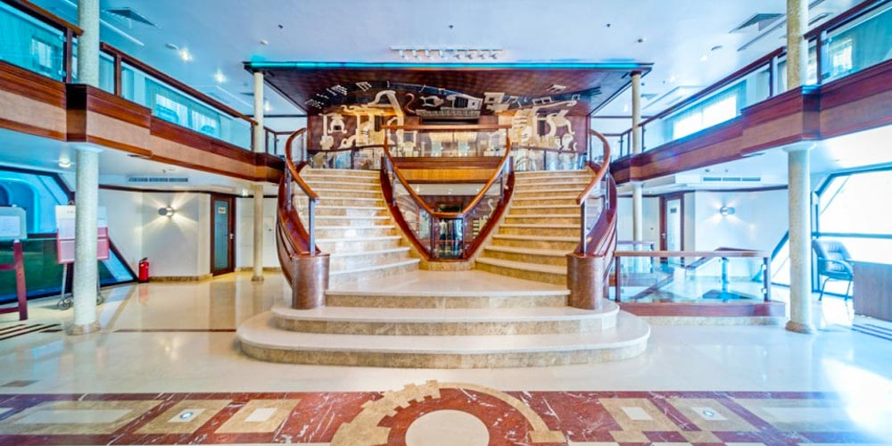 Lobby of Concerto Nile Cruise - Trips in Egypt