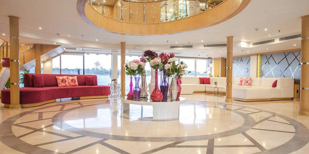 Lobby of MS Acamar Nile Cruise - Trips in Egypt