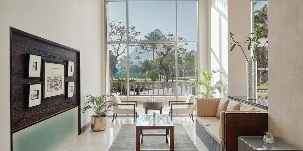 Lobby of Marriott Mena House - Trips in Egypt