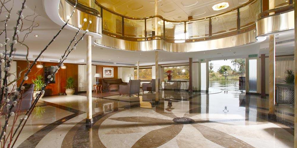 Lobby of Sonesta Nile Goddess Nile Cruise - Trips in Egypt
