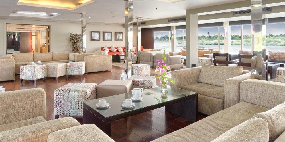 Lounge Bar of Nile Premium Nile Cruise - Trips in Egypt