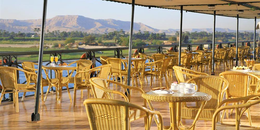 Lounge of Crown Jewel Nile Cruise - Trips in Egypt