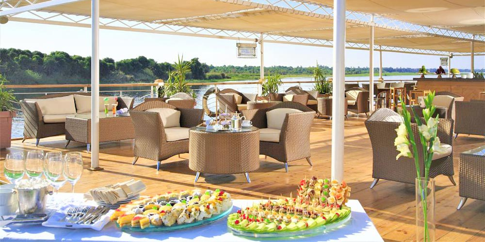 Lounge of Jaz Senator Nile Cruise - Trips in Egypt