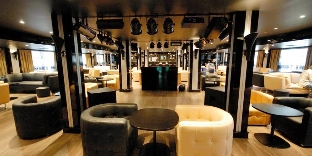 Lounge of Moon Dance Nile Cruise - Trips in Egypt