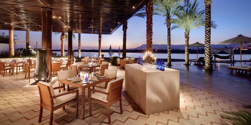 Nile View Resturant of Hilton Luxor Resort - Trips in Eypt