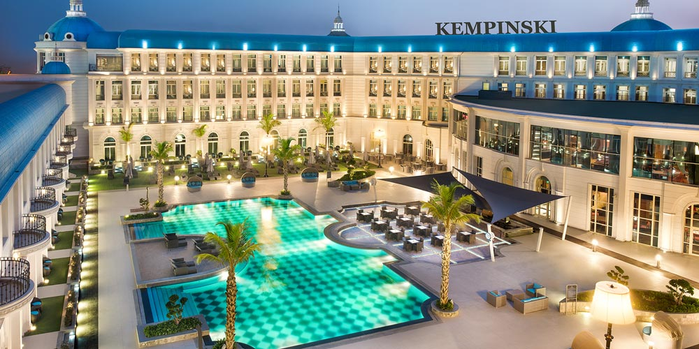 Palace Courtyard of Kempinski Cairo - Trips in Egypt