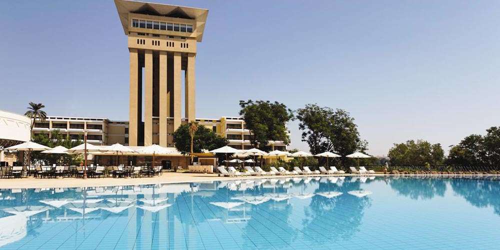 Pool & Sun Decks of Movenpick Aswan - Trips in Egypt