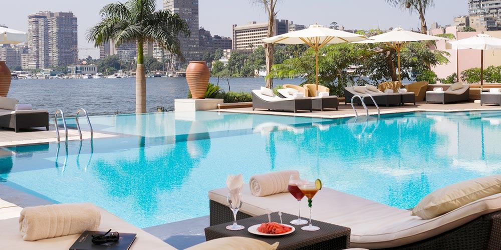 Pool & Sun Decks of Sofitel Cairo El Gezirah - Trips in Egypt
