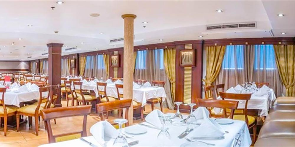 Resturant of Concerto Nile Cruise - Trips in Egypt