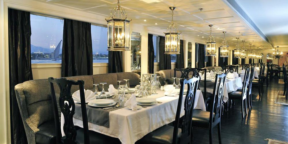 Resturant of MS Mayfair Nile Cruise - Trips in Egypt