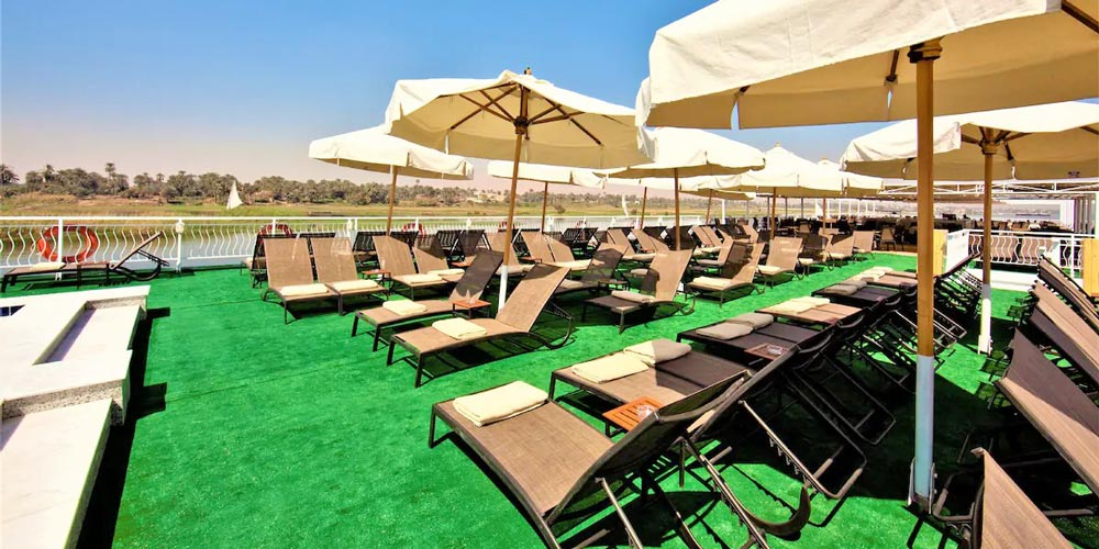 Sun Deck of Steigenberger Legacy Nile Cruise - Trips in Egypt