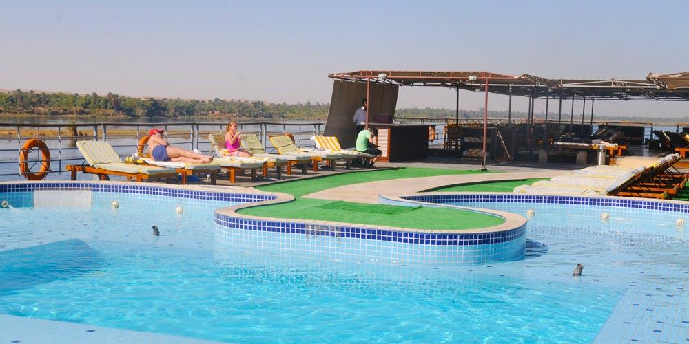 Sun Decks & Pool of Nile Premium Nile Cruise - Trips in Egypt