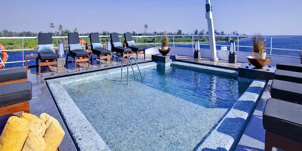 Sun Decks & Pool of Nile Style Nile Cruise - Trips in Egypt