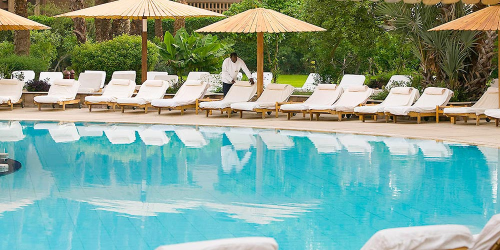 Sun Decks & Pool of Sofitel Winter Palace - Trips in Egypt