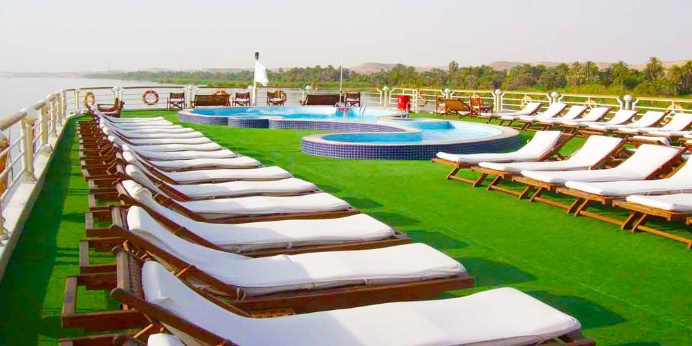 Sun Decks of Concerto Nile Cruise - Trips in Egypt