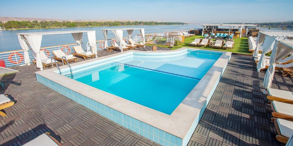 Sun Decks of MS Acamar Nile Cruise - Trips in Egypt