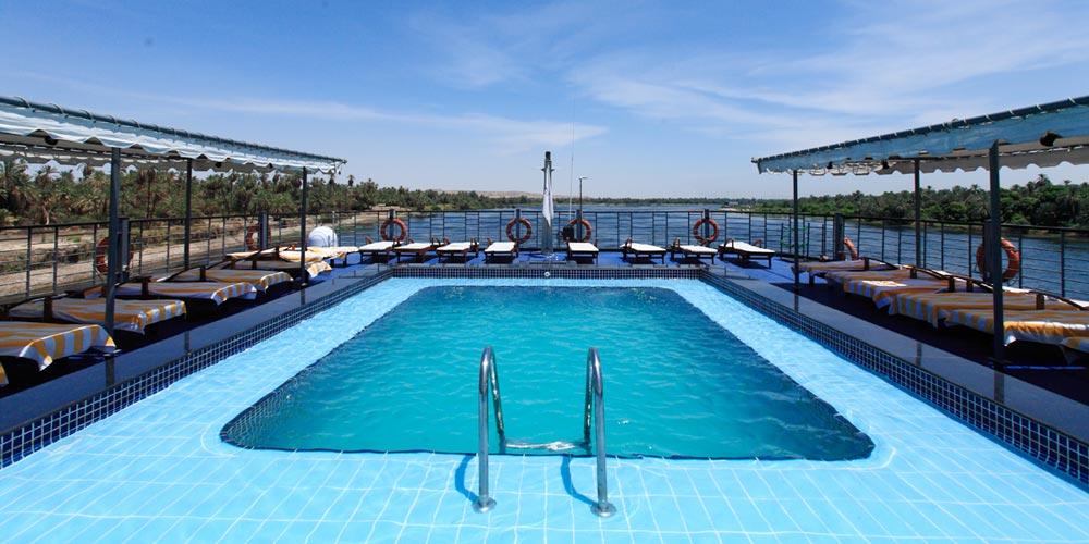 Swimming Pool - Moon Dance Nile Cruise - Trips in Egypt