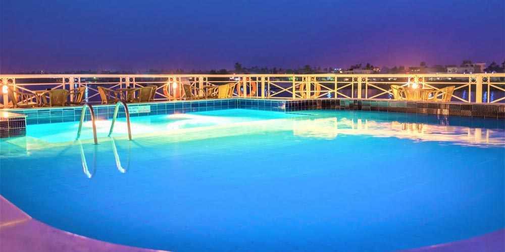 Swimming Pool of Crown Jewel Nile Cruise - Trips in Egypt