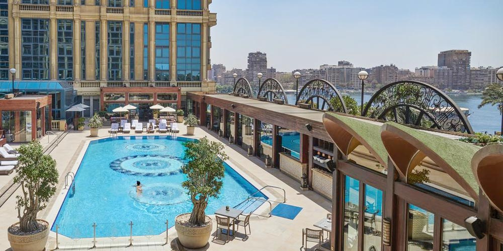 Swimming Pool of Guest Suite of Four Seasons First Residence - Trips in Egypt