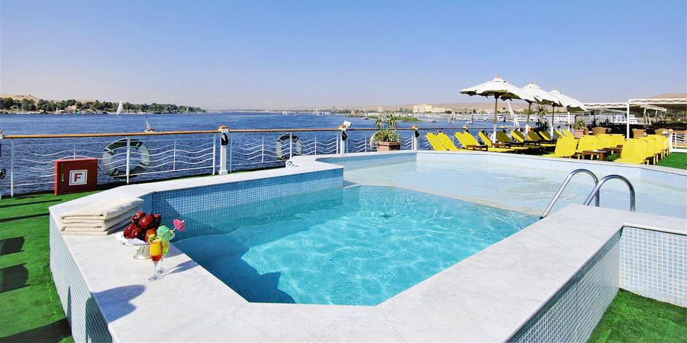 Swimming Pool of Jaz Senator Nile Cruise - Trips in Egypt