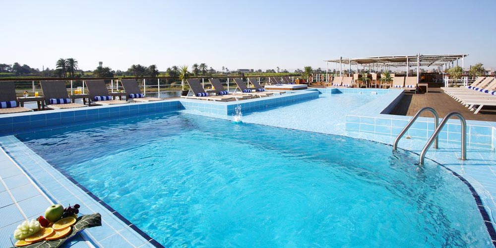 Swimming Pool of Mövenpick MS Royal Lily Nile Cruise - Trips in Egypt