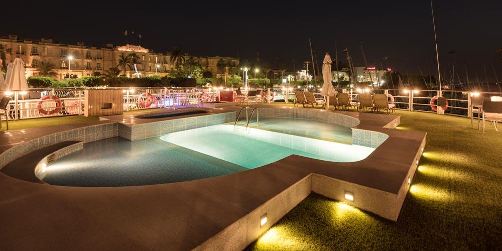 Swimming Pool of Steigenberger Regency Nile Cruise - Trips in Egypt