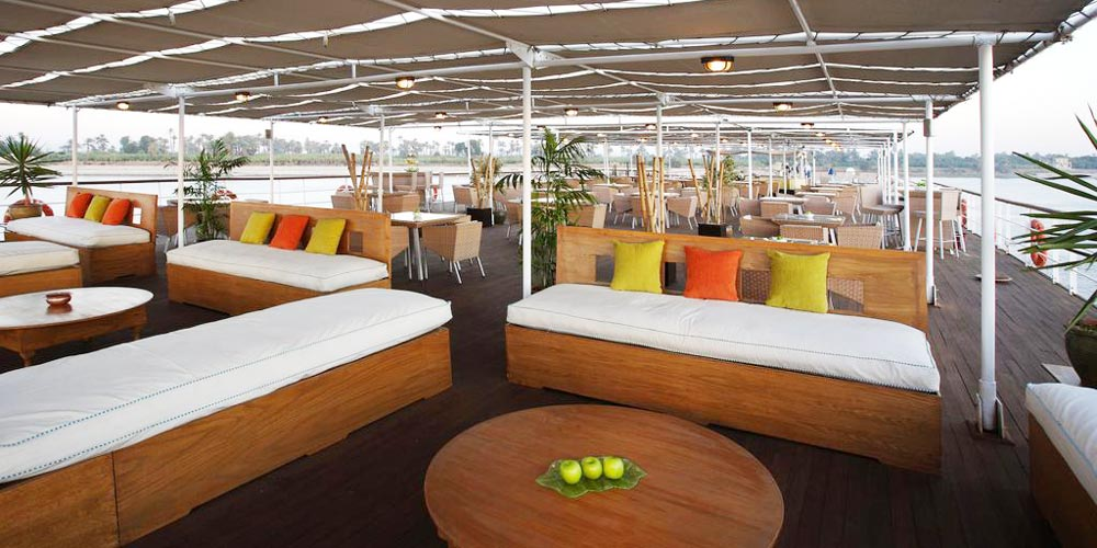 Upper Deck of Mövenpick MS Royal Lily Nile Cruise - Trips in Egypt