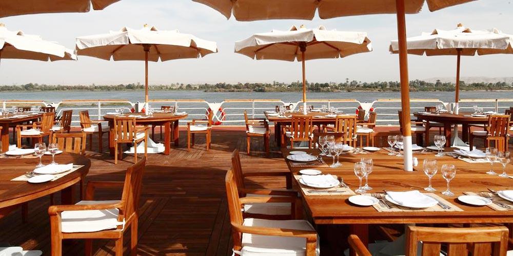 Upper Deck of Sonesta Nile Goddess Nile Cruise - Trips in Egypt