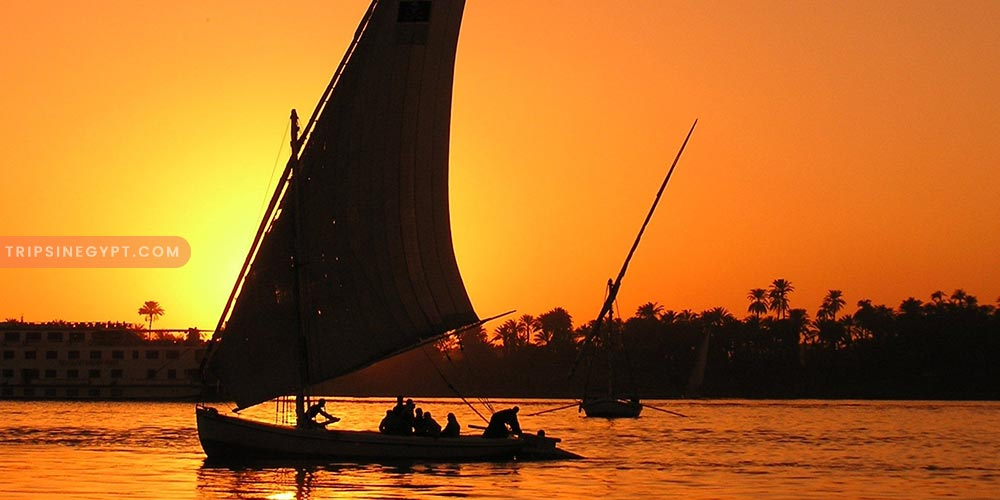 Felucca In Aswan At Night - How to Spend A Night In Aswan - Trips In Egypt